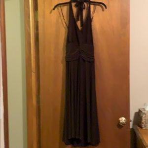 Evan Picone dark brown halter dress